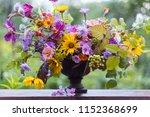 flower wedding bouquet ... | Shutterstock . vector #1152368699