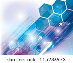 abstract background technology... | Shutterstock .eps vector #115236973