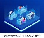 isometric business team... | Shutterstock .eps vector #1152372893