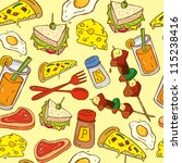 food seamless pattern suitable... | Shutterstock .eps vector #115238416
