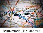 Marysville. Ohio. USA on a map
