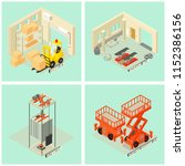 lifting machine equipment icons ... | Shutterstock .eps vector #1152386156
