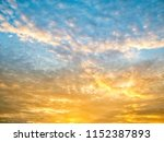 twilight sky background with...   Shutterstock . vector #1152387893