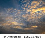 twilight sky background with...   Shutterstock . vector #1152387896