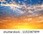 twilight sky background with...   Shutterstock . vector #1152387899