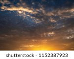 twilight sky background with...   Shutterstock . vector #1152387923