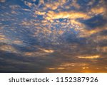 twilight sky background with...   Shutterstock . vector #1152387926