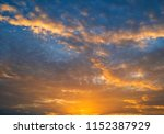 twilight sky background with...   Shutterstock . vector #1152387929