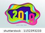 2019 number text design... | Shutterstock .eps vector #1152393233