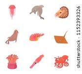 resident marine life icons set. ...   Shutterstock .eps vector #1152393326
