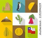 wilderness icons set. flat set... | Shutterstock .eps vector #1152394229