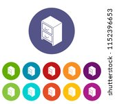 office chest of drawers icons...   Shutterstock .eps vector #1152396653