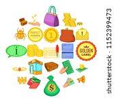 ready cash icons set. cartoon... | Shutterstock .eps vector #1152399473