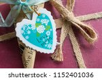 heart shaped mothers day card ... | Shutterstock . vector #1152401036