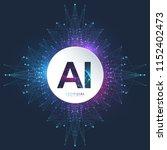 artificial intelligence logo.... | Shutterstock .eps vector #1152402473