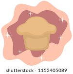magic muffin   a cartoon muffin ... | Shutterstock .eps vector #1152405089