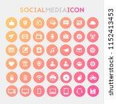 big social media icon set | Shutterstock .eps vector #1152413453