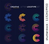 set of clever and creative dots ... | Shutterstock .eps vector #1152419933