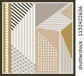 geometric scarf design. hijab...   Shutterstock .eps vector #1152422636