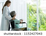 attractive asian woman doctor... | Shutterstock . vector #1152427043