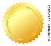 blank gold token  vector... | Shutterstock .eps vector #115242826