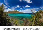 turquoise water in the bay ...   Shutterstock . vector #1152443600