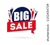 big sale banner isolated in... | Shutterstock .eps vector #1152454739