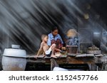 lifestyle of southeast asian...   Shutterstock . vector #1152457766