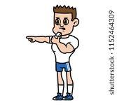 cartoon male coach character | Shutterstock .eps vector #1152464309