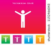 athlete icon in colored square... | Shutterstock .eps vector #1152466043