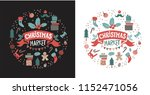 christmas market set with... | Shutterstock .eps vector #1152471056
