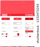 light red vector design ui kit...