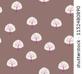 seamless pattern with trees. | Shutterstock .eps vector #1152480890