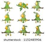 vector set of cute green...   Shutterstock .eps vector #1152485906
