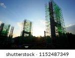 steel bridge construction with... | Shutterstock . vector #1152487349