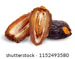 dried date palm isolated on...   Shutterstock . vector #1152493580
