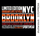 brooklyn new york athletic... | Shutterstock .eps vector #1152498266
