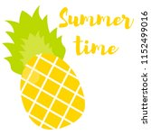 tropical fruit ananas and... | Shutterstock .eps vector #1152499016