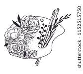 floral palette. vector hand... | Shutterstock .eps vector #1152515750