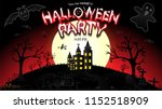 halloween party with the scary... | Shutterstock .eps vector #1152518909