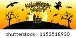 halloween party with the scary... | Shutterstock .eps vector #1152518930