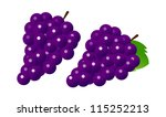 icon grape | Shutterstock .eps vector #115252213
