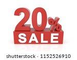 twenty percent sale. 3d... | Shutterstock . vector #1152526910