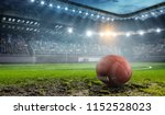 rugby game concept. mixed media | Shutterstock . vector #1152528023