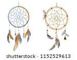 two hand drawn ornate dream... | Shutterstock . vector #1152529613