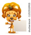 halloween masquerade yellow dog ... | Shutterstock .eps vector #1152533903