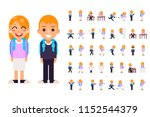 school boy girl student pupil... | Shutterstock .eps vector #1152544379