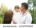 happy parents and child at... | Shutterstock . vector #1152545060