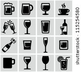 drink icons set | Shutterstock .eps vector #115254580