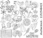 set of hand drawing autumn... | Shutterstock .eps vector #1152548423